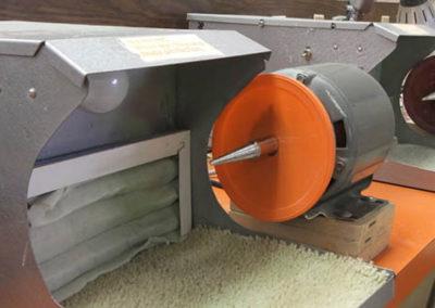Stone buffing equipment